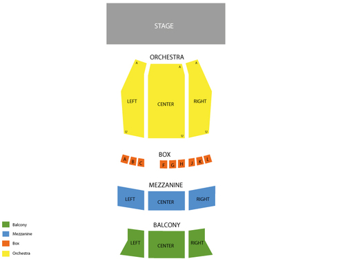 Ohio Theatre - Playhouse Square Center Seating Chart