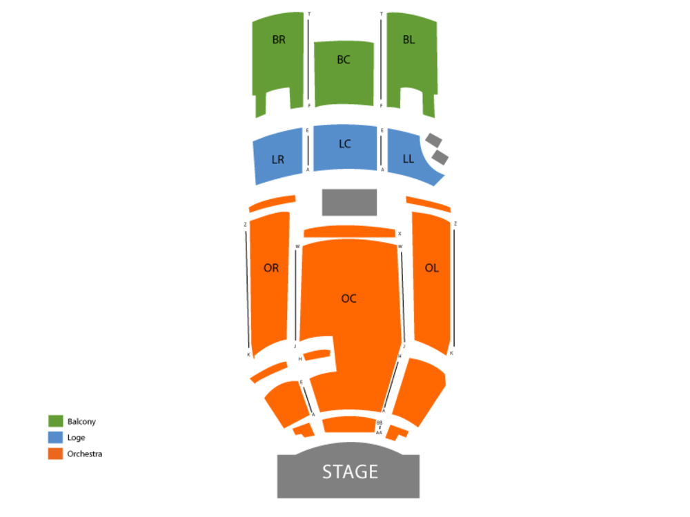 The Ten Tenors Venue Map