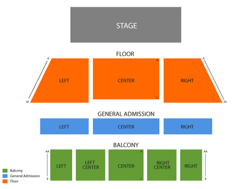 Local Natives Venue Map