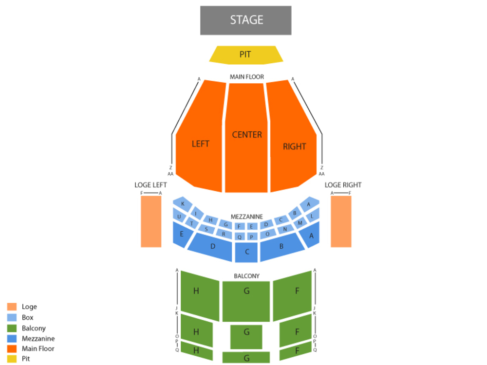 Seating Chart for Full House Seating Chart at Majestic Theatre (Dallas)