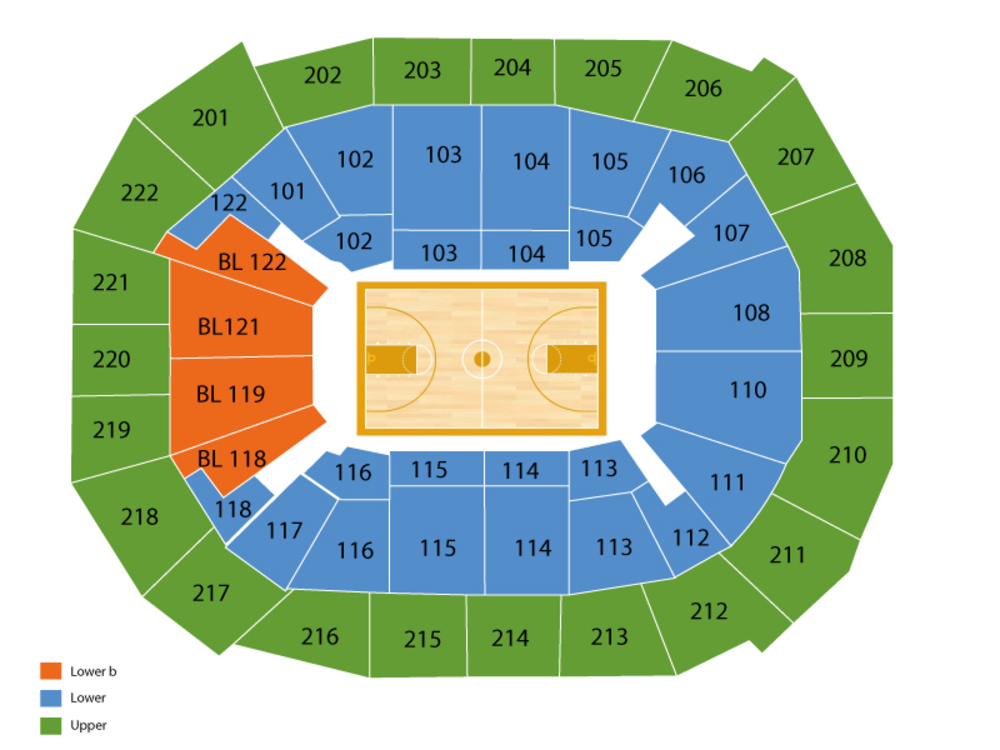 Virginia Commonwealth Rams at Saint Louis Billikens Basketball Venue Map