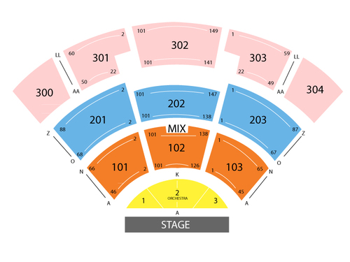 St Augustine Amphitheatre Seating Chart