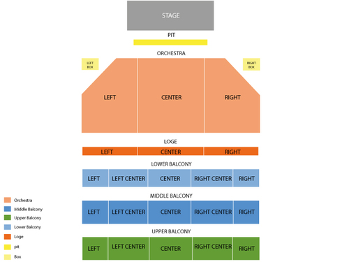 Hanover Theatre Seating Chart