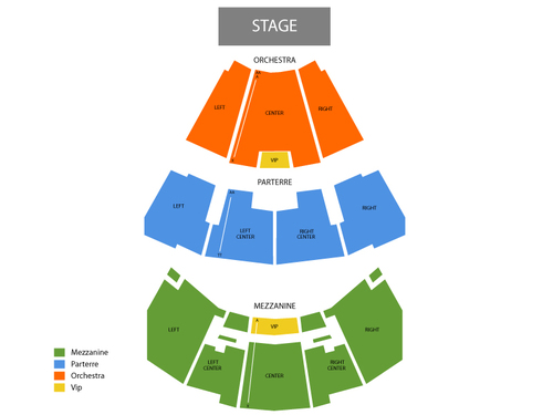 Dana Carvey Venue Map