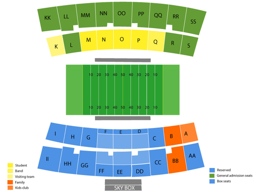 Tulsa Golden Hurricane at Louisiana Tech Bulldogs Football Venue Map
