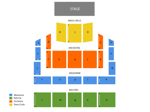 Raleigh Memorial Auditorium - Duke Energy Center Seating Chart