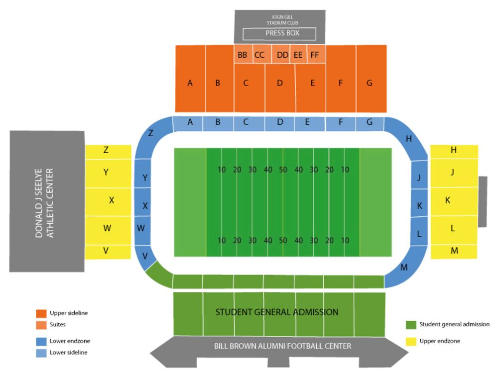 Waldo Stadium seating map and tickets