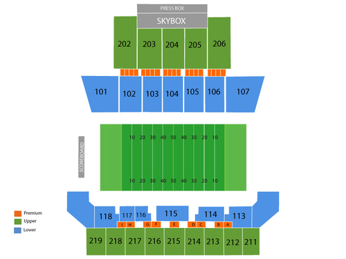 Malone Stadium Seating Chart
