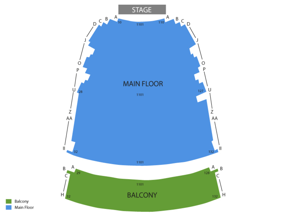 Century II Performing Arts and Convention Center seating map and tickets