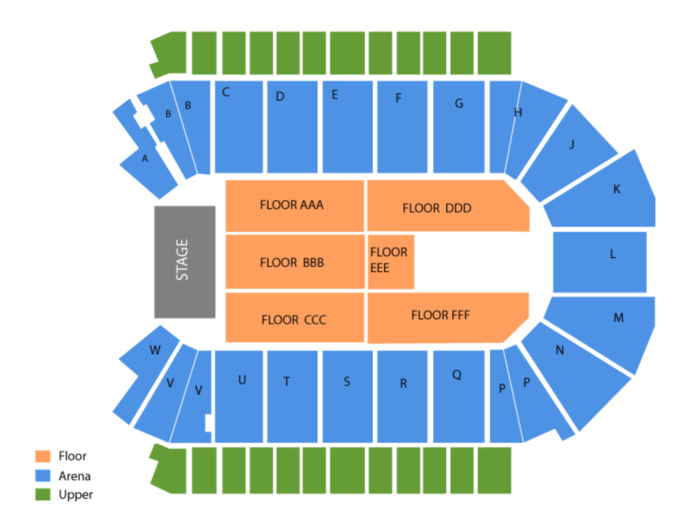 Budweiser Events Center seating map and tickets