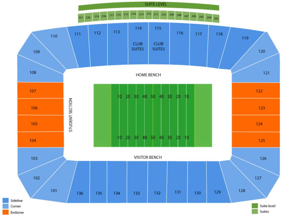 Western Kentucky Hilltoppers at Florida International Golden Panthers Football Venue Map
