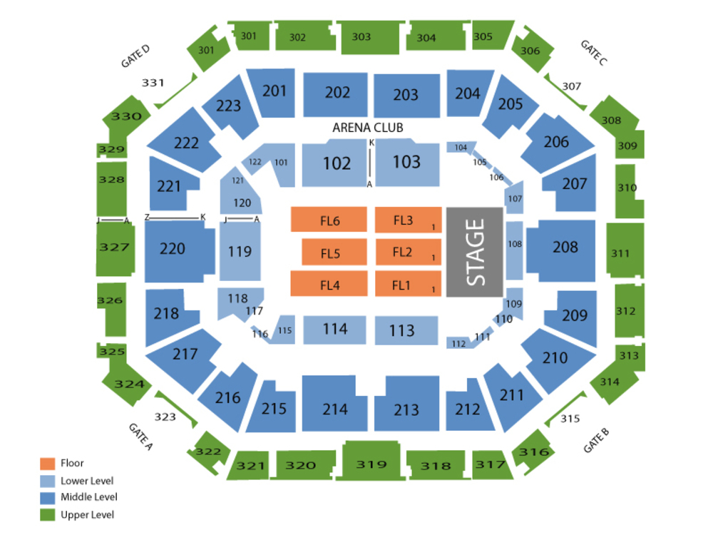 Gabriel Iglesias Venue Map