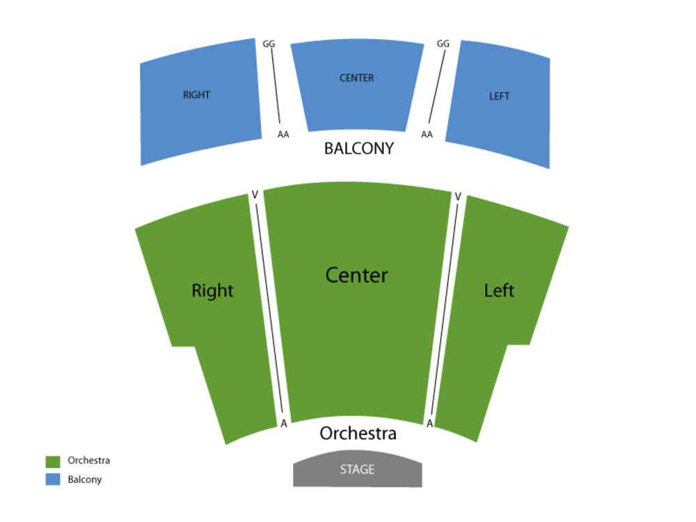 Seating Chart for End Stage Seating Chart at Burnsville Performing Arts Center