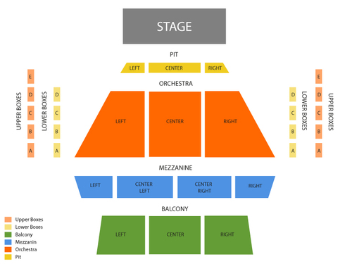 Curtis M Phillips Center for Performing Arts Seating Chart