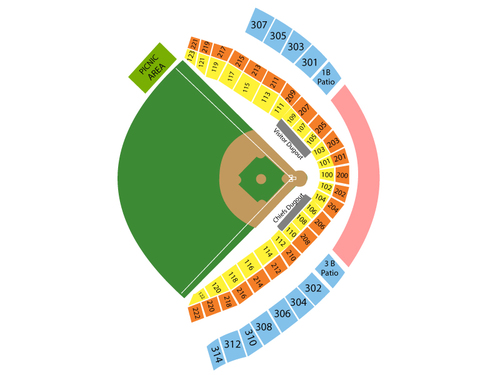 Toledo Mud Hens at Syracuse Chiefs Venue Map
