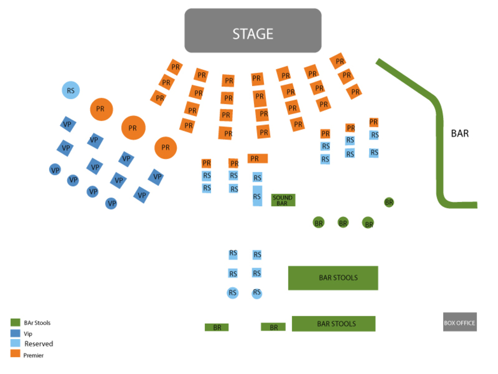 Sinead O'Connor (Rescheduled from 04/16/2020) Venue Map