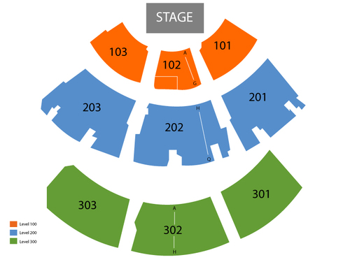 Ovations LIVE! Showroom at Wild Horse Pass Hotel and Casino Seating Chart