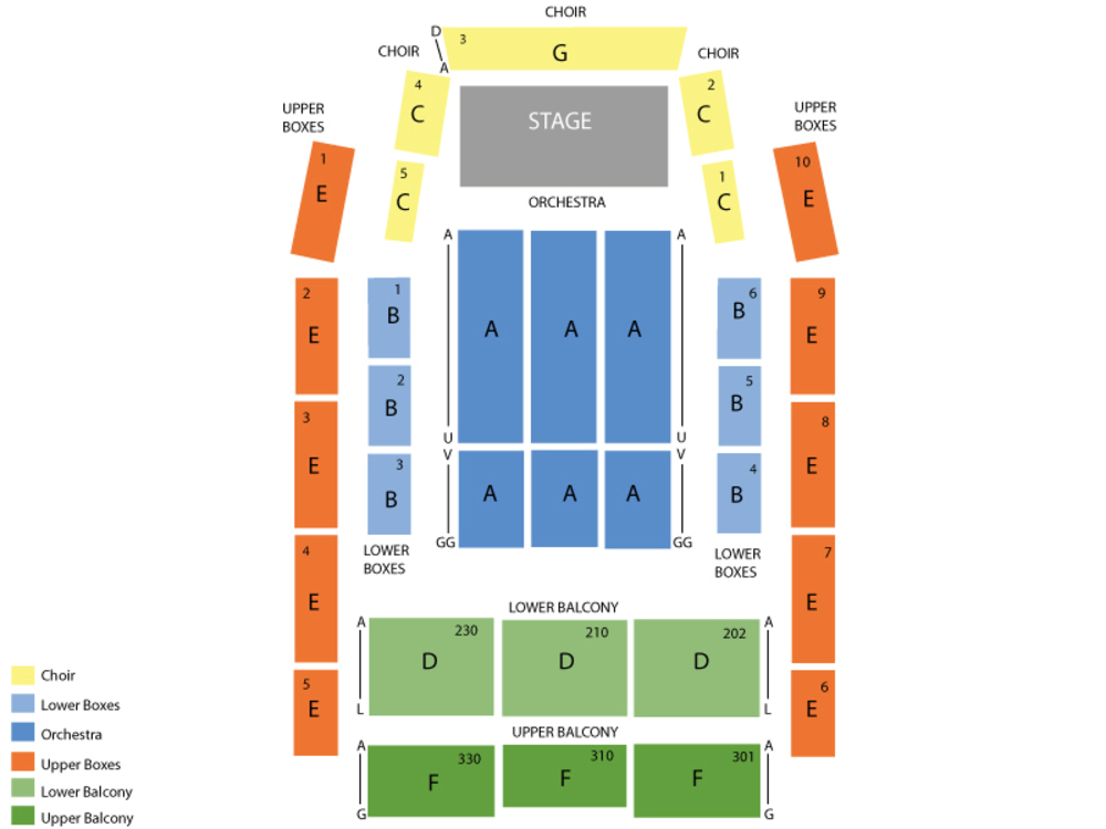 Seating Chart for End Stage Seating Chart at Progress Energy Center Meymandi Hall