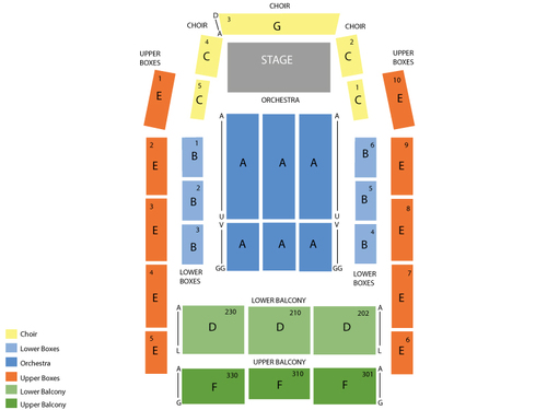 Meymandi Concert Hall - Progress Energy Center Seating Chart