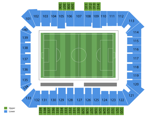 Columbus Crew at Philadelphia Union Venue Map