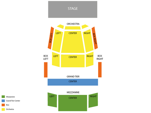 Knight Theater at Levine Center for the Arts Seating Chart