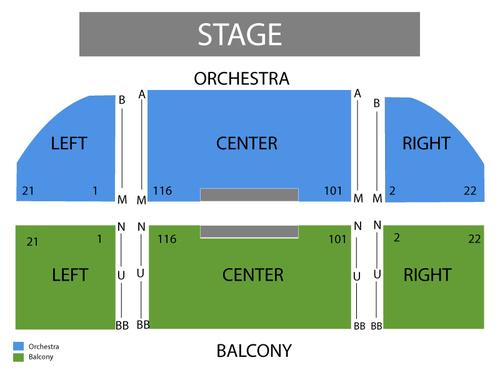 Uptown Theatre Napa Seating Chart