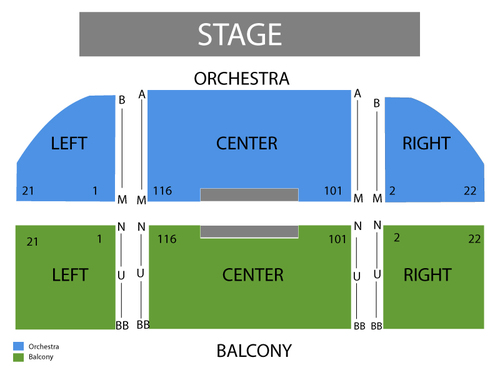 Uptown Theatre Napa Seating Chart