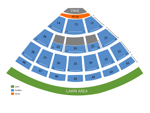 Kenny Chesney with Eric Church and Eli Young Band Venue Map