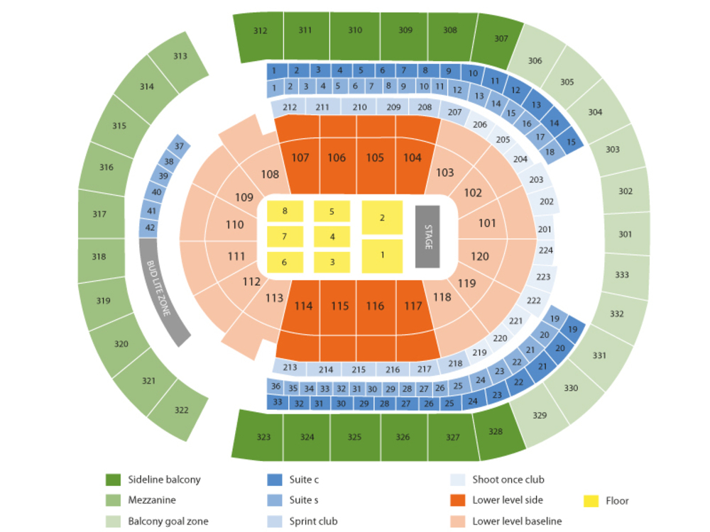Camila Cabello Venue Map