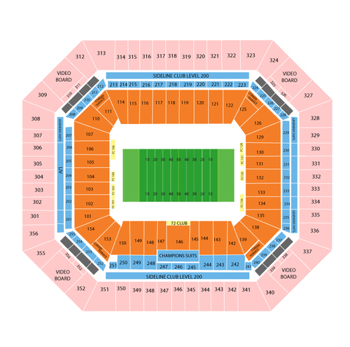 New England Patriots at Miami Dolphins Venue Map