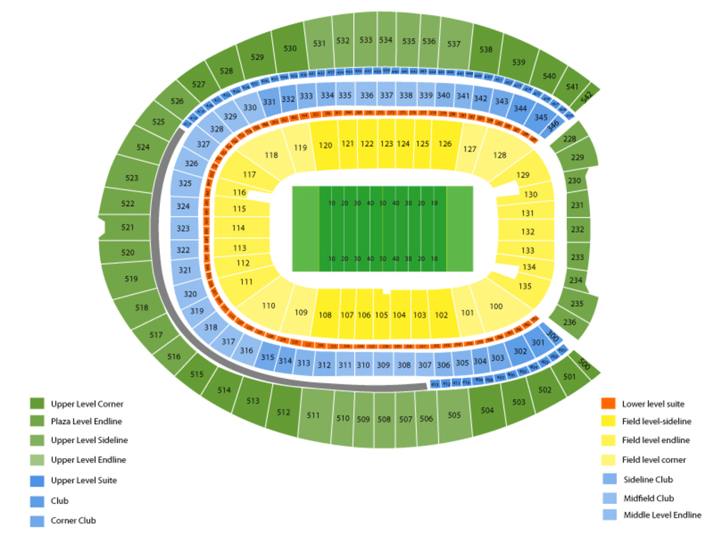 Los Angeles Chargers at Denver Broncos Venue Map