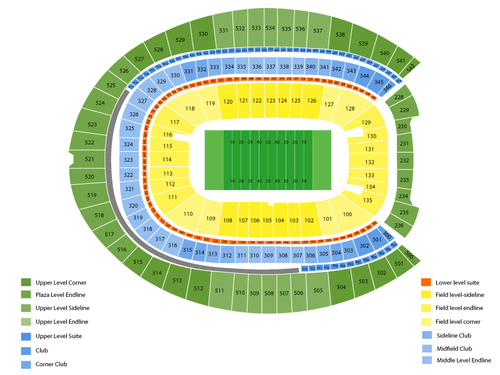 Colorado State Rams at Colorado Buffaloes Football Venue Map