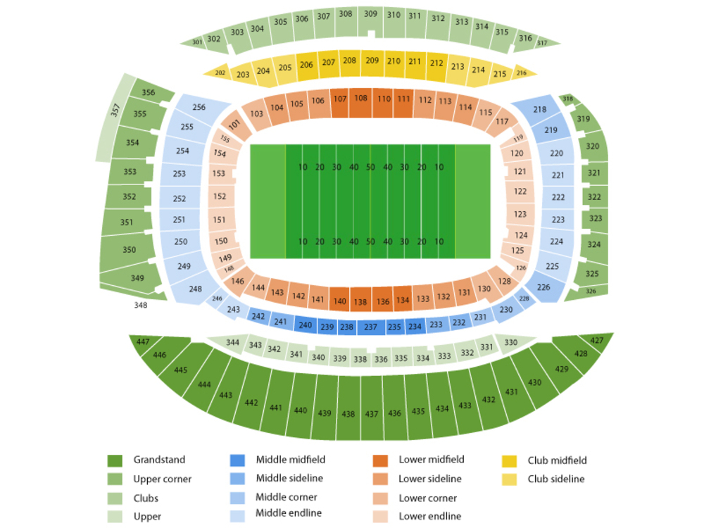 New England Patriots at Chicago Bears Venue Map