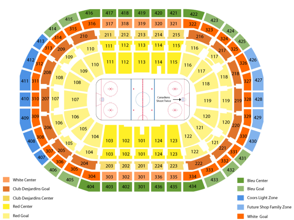 New York Islanders at Montreal Canadiens Venue Map