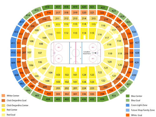 NHL Preseason: Florida Panthers at Montreal Canadiens Venue Map