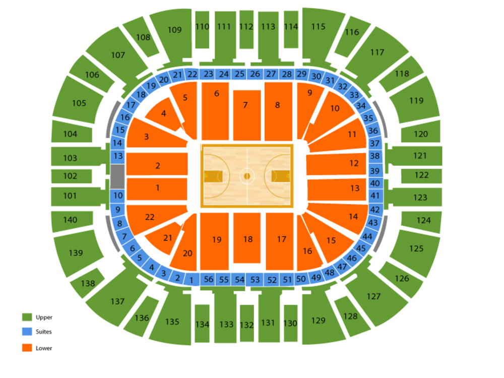 Milwaukee Bucks at Utah Jazz Venue Map