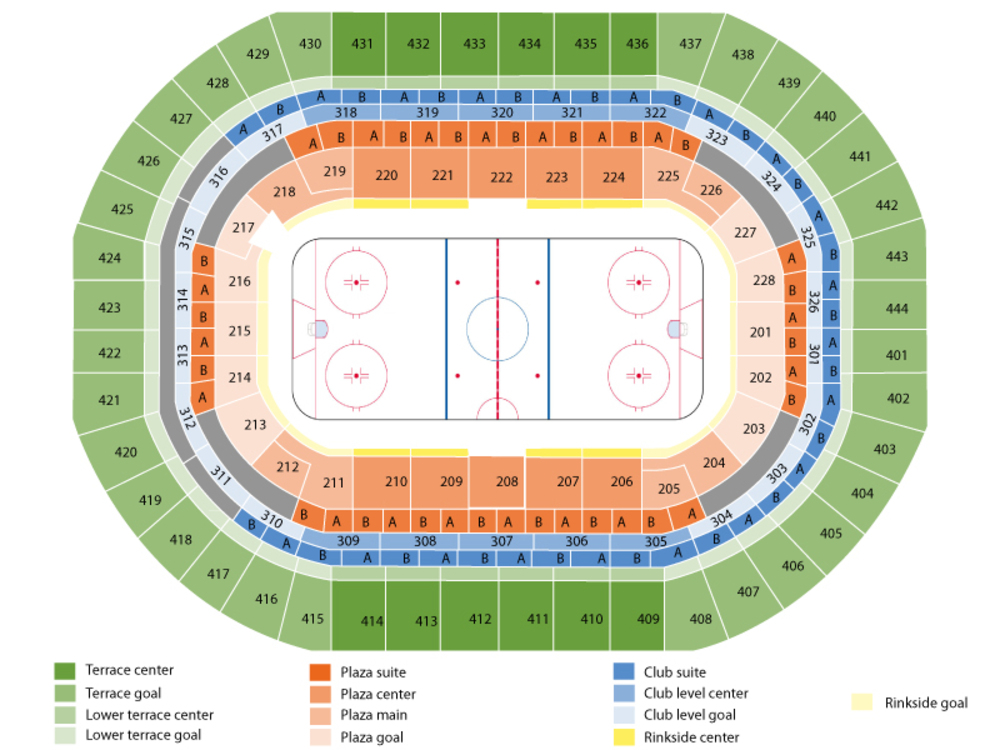 Chicago Blackhawks at Anaheim Ducks Venue Map