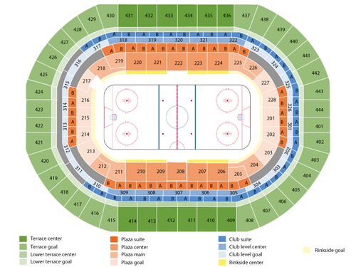 Vancouver Canucks at Anaheim Ducks Venue Map