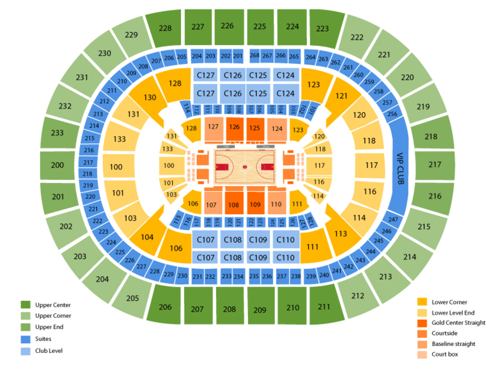 Indiana Pacers at Cleveland Cavaliers Venue Map