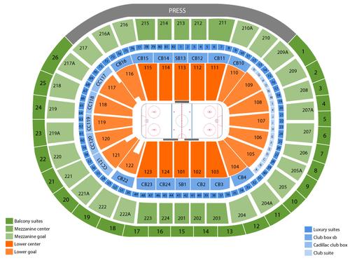 Toronto Maple Leafs at Philadelphia Flyers Venue Map