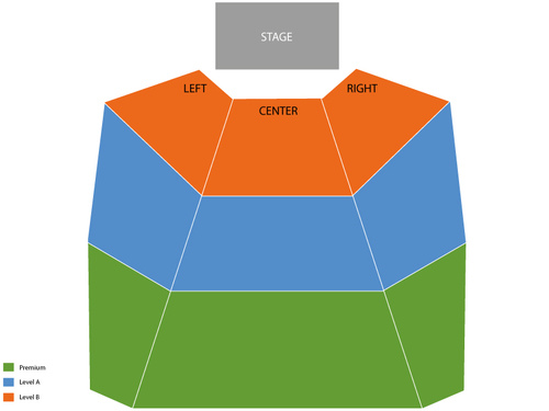 B.B. King Venue Map