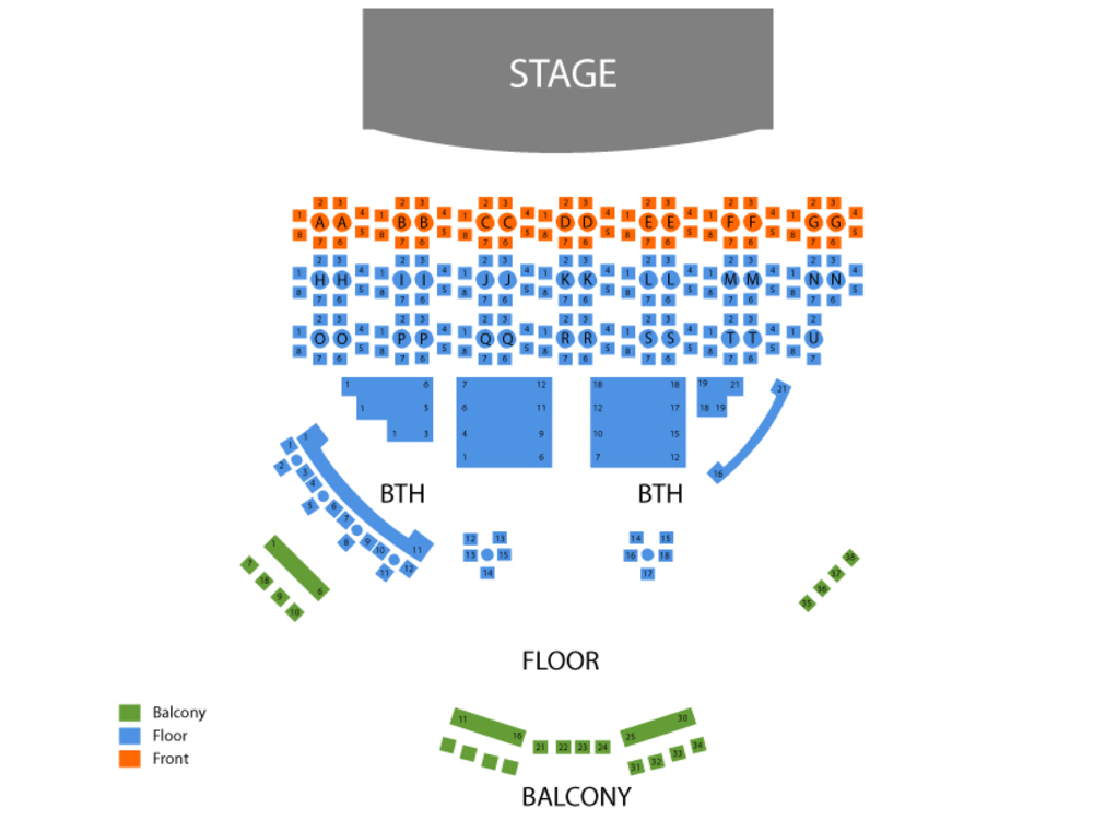 Chippendales Venue Map