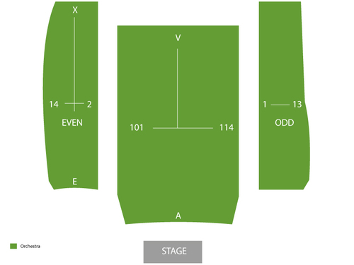 Kennedy Center - Terrace Theater Seating Chart