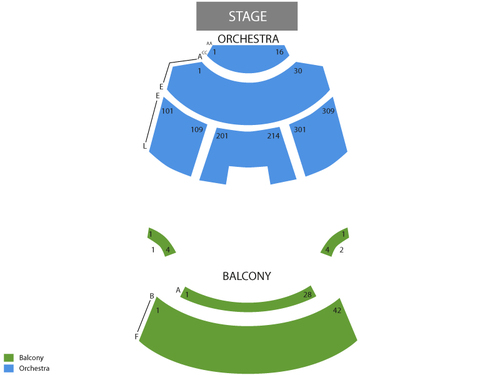 Piper Repertory Theater at Mesa Arts Center Seating Chart