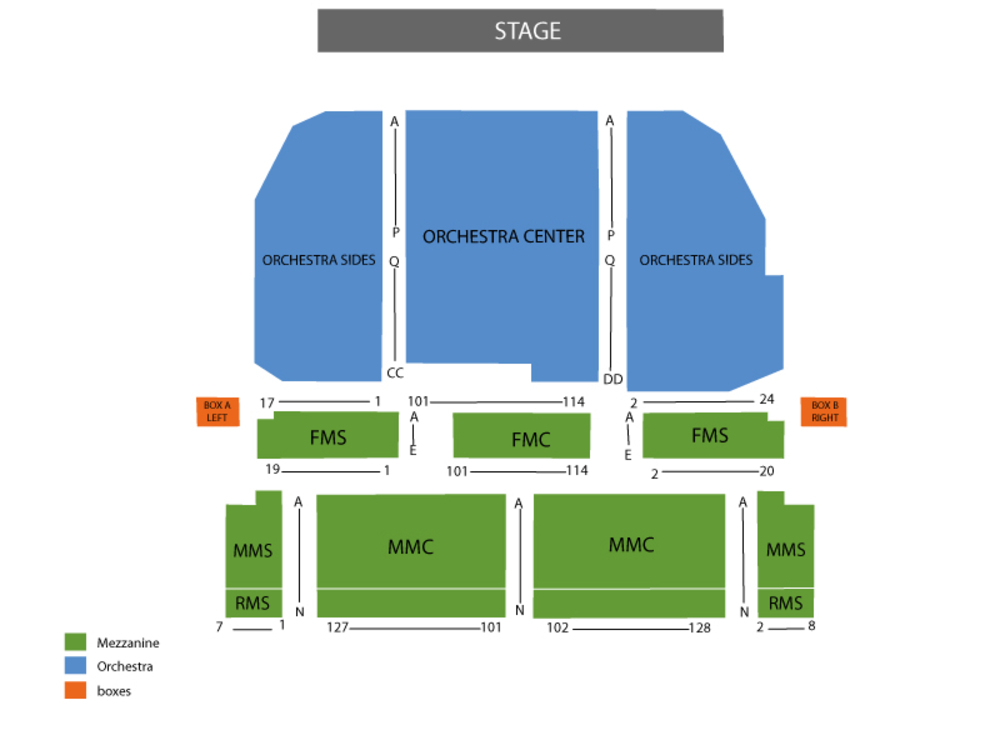 Seating Chart Lunt-Fontanne Theatre