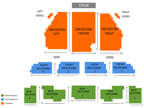Imperial Theatre - Saint John Seating Chart