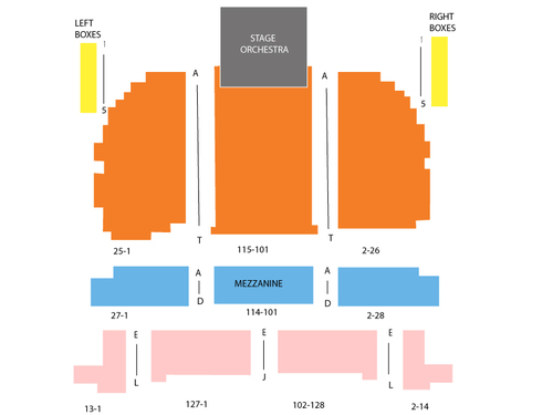 Eugene ONeill Theater Seating Chart