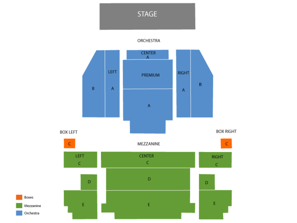 Seating Chart Neil Simon Theatre