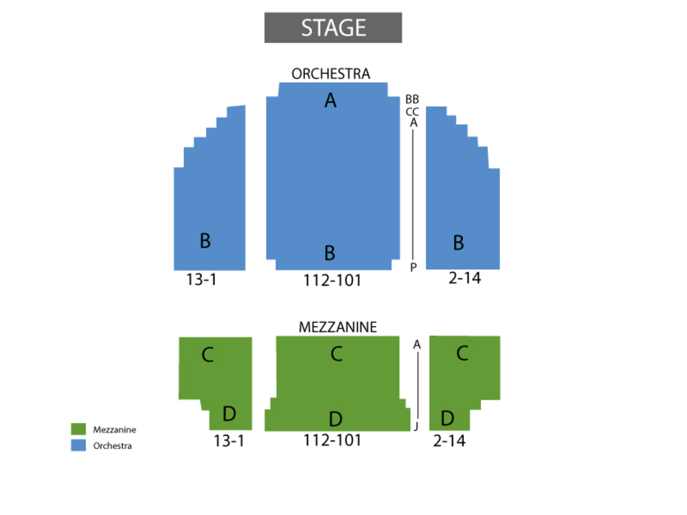 Seating Chart Helen Hayes Theatre