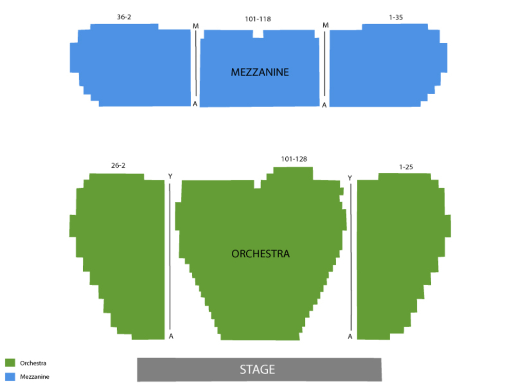 Seating Chart Marquis Theatre